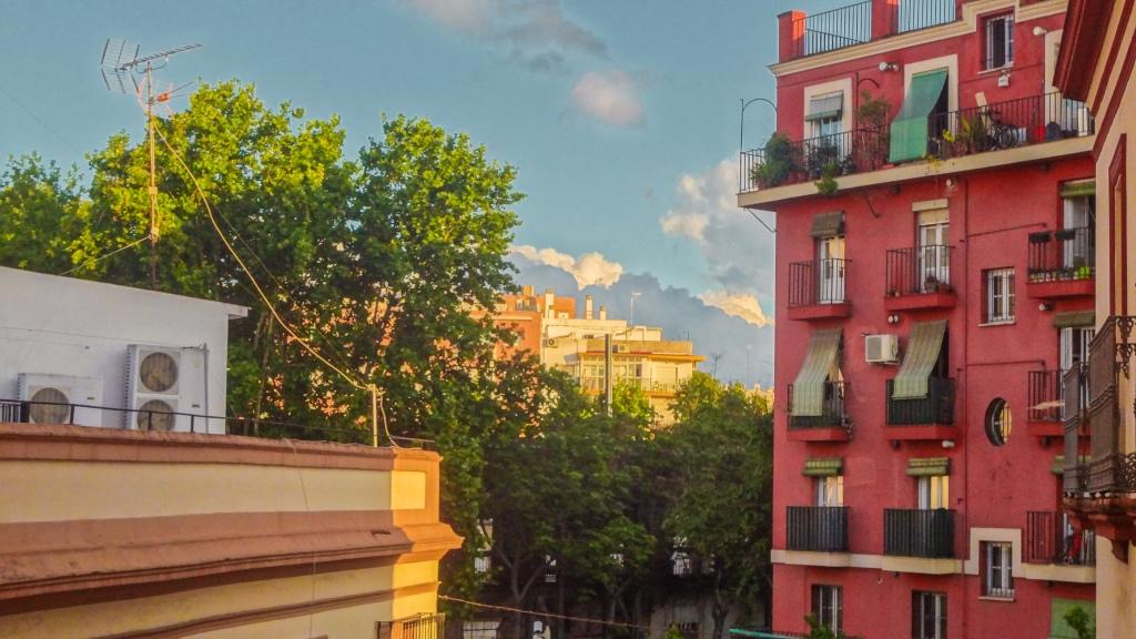 Vista desde un balcón en Sevilla